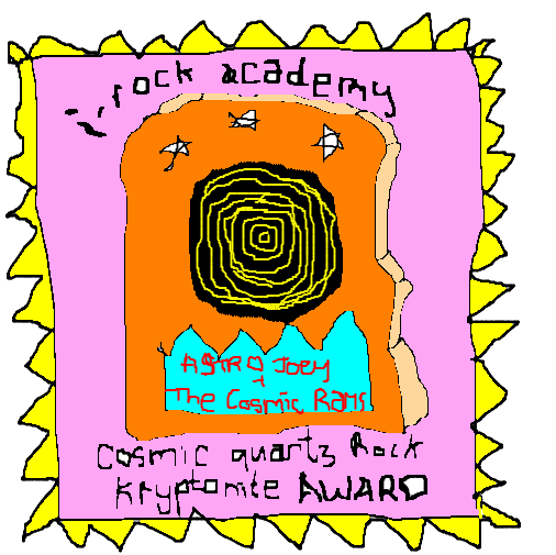 Cosmic Quartz Award presented to Astro Joey and the Cosmic Rays